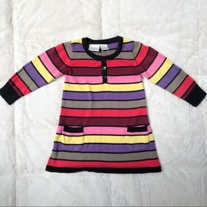 Miniwear striped sweater dress